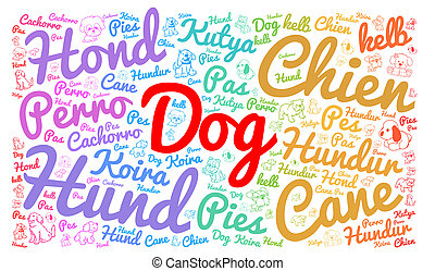 言語, 別, 単語, 犬, 雲