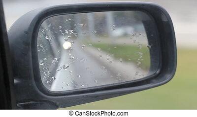 Car Side Mirror Chasing Car