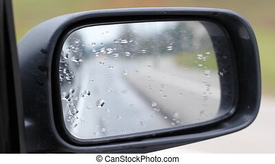 Wet Car Side Mirror