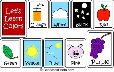 Set of Color Flashcards