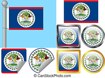 Flag Set Belize