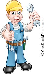 Mechanic or Plumber with Spanner