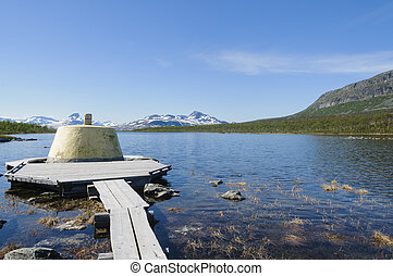 Three-Country Cairn in Lapland - Three-Country Cairn on the...