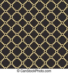 Seamless geometric interlacing pattern. Inspired by old...