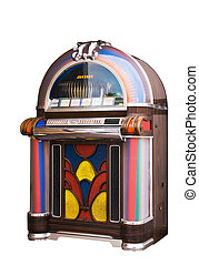 Jukebox - colourful vintage wooden jukebox
