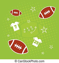 American Football Background - An abstract american football...