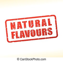 natural flavours text buffered - Illustration of natural...