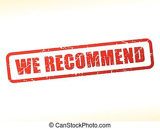 we recommend text buffered - Illustration of we recommend...