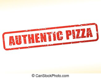 authentic pizza text buffered