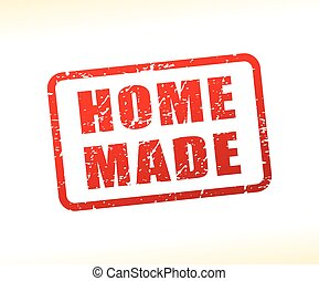 home made text buffered - Illustration of home made text...