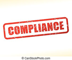 compliance text buffered - Illustration of compliance text...