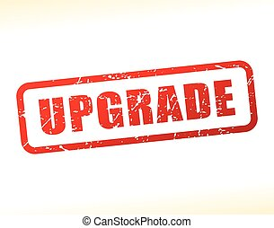 upgrade text buffered - Illustration of upgrade text...
