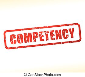 competency text buffered - Illustration of competency text...