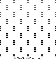 Beer can pattern, simple style - Beer can pattern. Simple...
