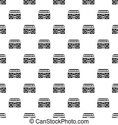 Boombox pattern, simple style - Boombox or radio cassette...