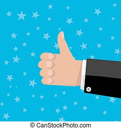 hand thumbs up gesture
