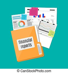 financial report concept. Business background. - clipboard...