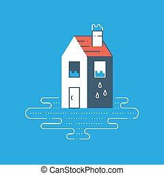 Housekeeping, pipe leaking, plumbing repair