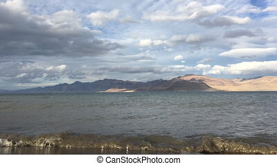 Artillery Bay Pyramid Lake Nevada looking towards east