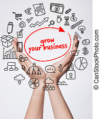 Technology, internet, business and marketing. Young business...