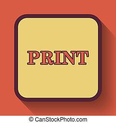 印刷, アイコン