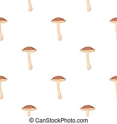Brown cap boletus icon in cartoon style isolated on white...