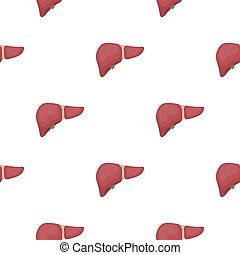 Liver icon in cartoon style isolated on white background....