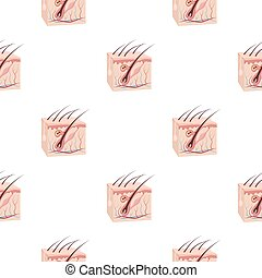 Skin icon in cartoon style isolated on white background....