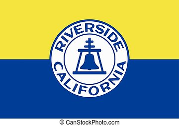 Flag of Riverside, California, USA. Vector Format