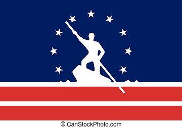 Flag of Richmond, Virginia, USA. Vector Format
