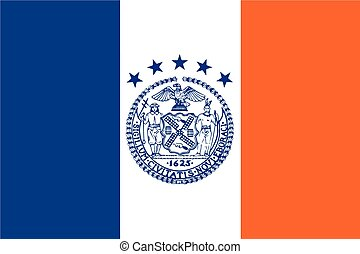 Flag of New York City, USA. Vector Format