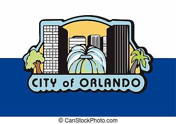 Flag of Orlando, Florida, USA. Vector Format
