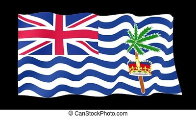 Flag of British Indian Ocean Territory. Waving flag