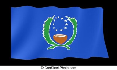 Flag of Pohnpei. Waving flag