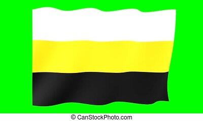 Variant Flag of Novorossiya. Waving flag - Flag animation...