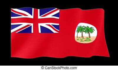 Red flag of Colonial Samoa. Waving flag - Flag animation for...