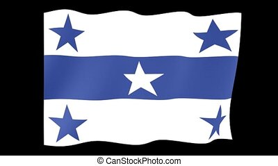 Flag of the Gambier Islands. Waving