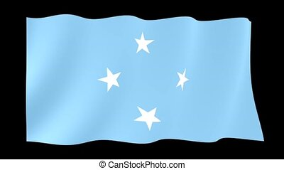 Flag of Federated States of Micronesia. Waving flag