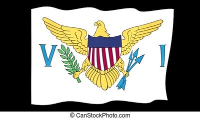 Flag of the United States Virgin Islands. Waving flag - Flag...