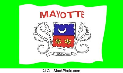 Flag of Mayotte. Waving flag - Flag animation for using in...
