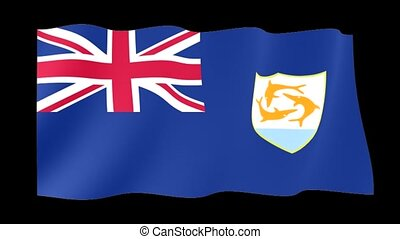 Flag of Anguilla. Waving flag - Flag animation Useful for...