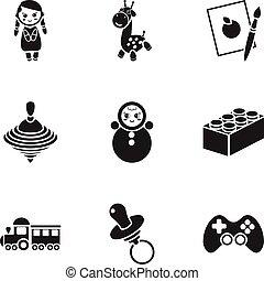 satz, heiligenbilder, groß,  symbol, Sammlung, vektor, Schwarz, abbildung, Spielzeuge, Stil, Bestand