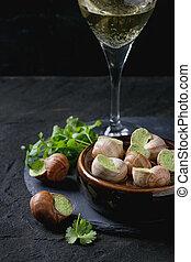 Uncooked Escargots de Bourgogne snails - Uncooked Escargots...