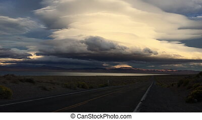 Pyramid Lake Road 446 to Nixon Nevada Vertical Composition -...