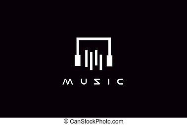Simple music logo icon design