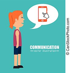 People communicating concept icon