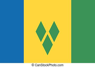 Saint Vincent and The Grenadines Flag. Vector Format