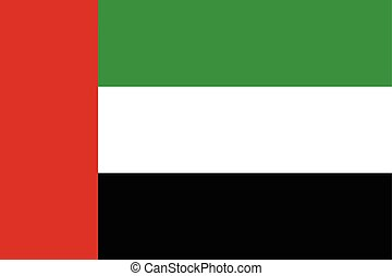United Arab Emirates Flag. Vector Format