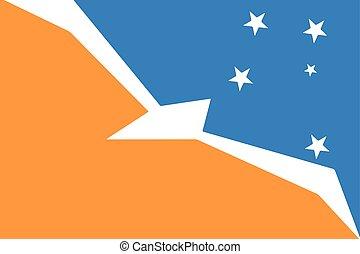 Flag of Tierra del Fuego Province, Argentina. Vector Format