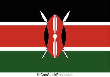 Kenya Flag. Vector Format